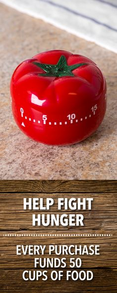 It's always good to have something to keep track of the time when we leave something in the oven. This charming Tomato Timer has a countdown of up to 60 minutes, making it a perfect kitchen companion that reminds you when your goodies are done!