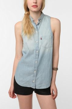 UrbanOutfitters.com > Levi's Daphne Sleeveless Button-Down Shirt