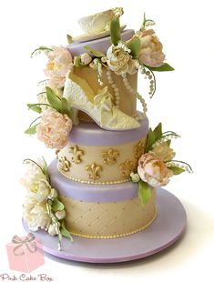Antique Tea Party Shower Cake » Bridal Shower Cakes