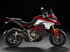 The 2016 Ducati Multistrada 1200 Pikes Peak makes us weak in the knees. Checkout these high-resoltuion images of the adventure-sport motorcycle. Ducati Multistrada 1200 S, Ducati 1299 Panigale, Ducati Hypermotard, Moto Ducati, Ducati Motorcycles, Motorcycles For Sale, Ducati Performance, Bike Shed, Pikes Peak