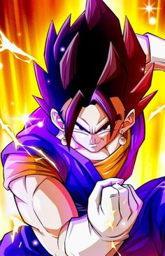 Dragon Ball Z strongest Character Vegito - Vegito, a fusion between Goku and Vegeta becoming one being. Here is why Vegito is stronger than you think. Dragon Ball Image, Dragon Ball Gt, Goku Y Vegeta, Son Goku, Gogeta And Vegito, Manga Dragon, New Dragon, Fan Art, Wallpaper