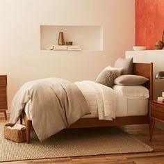 Simple bedframe - Mid-Century Bed - Acorn #westelm