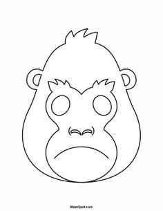 gorilla mask to color animal face maskanimal facesface masksgorilla maskprintable