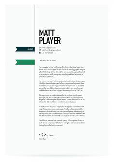 Cover Letter Design.