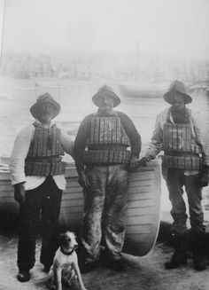 LIFEBOAT MEN | St Ives, Cornwall: With cork vests     ✫ღ⊰n