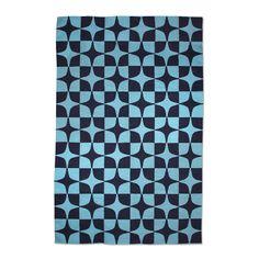 Modern Area Rugs   Blue Josef Indian Kilim Flat Weave Rug   Jonathan Adler