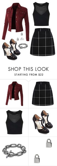 """High School"" by rebellious-ingenue ❤ liked on Polyvore featuring Topshop, David Yurman, Marc by Marc Jacobs and Primrose"