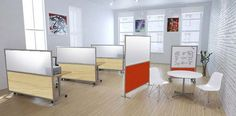 whiteboard screen office  | Multi-core Office Panels, portable room dividers
