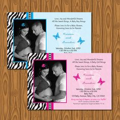 Cool Zebra Print Butterflies Baby Shower Invitations DIY of DIY Baby Shower Invitation Ideas . Baby Shower Games, Baby Showers, Butterfly Baby Shower, Party Looks, Zebra Print, Baby Shower Invitations, Projects To Try, Baby Boy, Girly