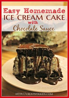 Here's an easy recipe for an  ice cream cake using a brownie mix or a cake mix.  It's super easy and super delicious!