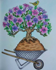 Árvore!  #blomstermandala #jardimsecreto #florestaencantada #mariatrolle by @luisamariagomes