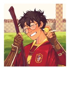 """danasauurrr: """" I forgot to post this here, how dare I *Rumor is, there's a Polaroid Camera going around Hogwarts, and Harry is it's first victim* Taken by Hermione Pls don't repost ❤️👏 """" Harry Potter Sketch, Arte Do Harry Potter, Harry Potter Quidditch, Harry Potter Artwork, Harry Potter Drawings, Harry James Potter, Harry Potter Anime, Harry Potter Universal, Harry Potter Characters"""