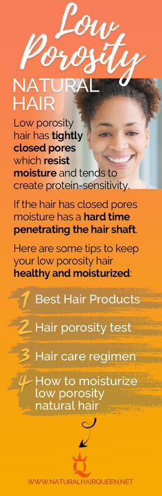 Porosity is your hair's ability to absorb moisture. Here are a few things you want to consider to fix porous hair and how to care for low porosity hair Natural Hair Care Tips, Natural Hair Regimen, How To Grow Natural Hair, Long Natural Hair, Natural Hair Growth, Natural Hair Styles, Natural Curls, Natural Haircare, Low Porosity Hair Products