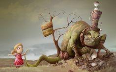 Fantasy Art by Kamil Fatsa
