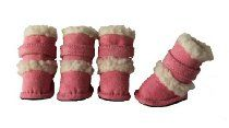 Pet Life Duggz Snuggly Shearling Dog Boots, X-Small, Pink/White : Shoes Comfort : Pet Supplies Dog Boots, Shearling Boots, Suede Boots, Pet Life, Dog Paws, Shopping Hacks, Comfortable Shoes, Pink White, White Trim