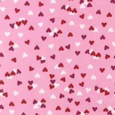 Pink Tossed Hearts, $9.50/yd