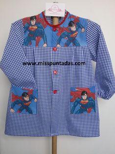 Superman, Baby, School Children, Retro Apron Patterns, Kids Clothes Patterns, Patron Robe, Teacher Clothes, Woman Outfits, Kids Apron