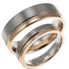 Two Tone 10k White-yellow-white Gold Satin Flat Grooved Ladies And Mens Wedding Rings 4mm, 6mm 02192