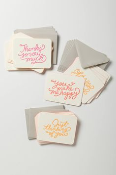 a perfect thank you card for the hostess is in this notecard set from anthropologie.com. after a wonderful thanksgiving meal it's something she's sure to appreciate. #Anthropologie #PinToWin