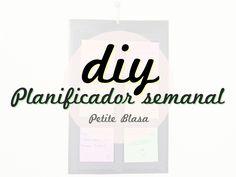 DIY: Super easy weekly planner - Petite Blasa