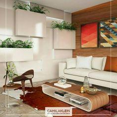 Inspiração ♡ #interiores #design #interiordesign #decor #decoração #decorlovers #archilovers #inspiration #ideias #sala #living #saladeestar #livingroom #paisagismo #camilaklein