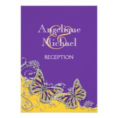 DealsPurple yellow butterfly wedding engagement personalized invitationlowest price for you. In addition you can compare price with another store and read helpful reviews. Buy