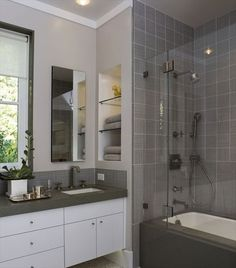 11 simple ways to make a small bathroom look bigger small bathroom storage and shower doors