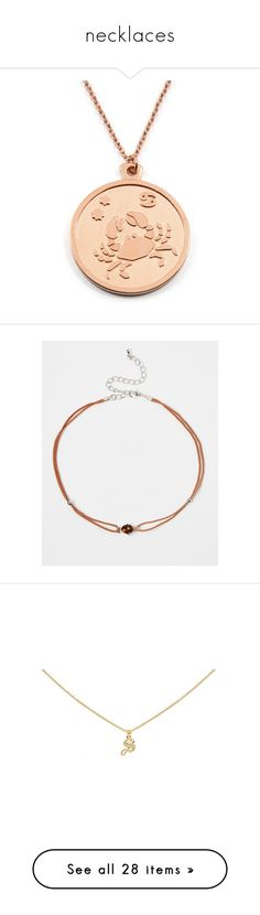 """""""necklaces"""" by tish-nyu ❤ liked on Polyvore featuring jewelry, necklaces, asos, tan, asos choker, brass necklace, jeweled choker necklace, rope choker necklace, letter necklace and diamond initial jewelry"""
