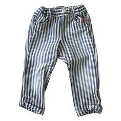 Bit'z Kids - Boy's Straight Denim Pants - Blue Stripe