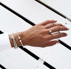Silver jewelry, silver pear ring , silver statement bracelet, simple classy jewelry and bracelets, plain silver rings