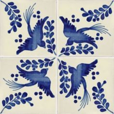Love this design with the blue color. Perfect for our blue b… Mexican dove tiles. Love this design with the blue color. Perfect for our blue bathroom! Tile Art, Mosaic Tiles, Tiling, Wall Tiles, Le Grand Bleu, Mexican Ceramics, Art Ancien, Tuile, Delft