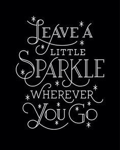 Glitter trail y'all!