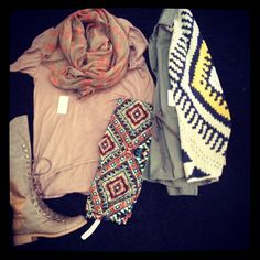 Top,Scarf,Leggings and Boots