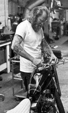 Beard Motorcycle Mechanic