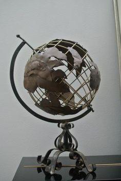 アンティーク地球儀/アイアン/globe D2