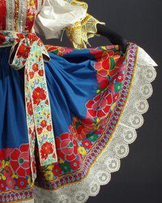 Detail of apron from the village Krakovany, Považie region, Western Slovakia.