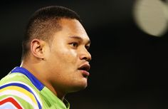 Joseph Leilua of the Raiders looks on during the second NRL Semi Final match…