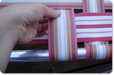 Re-webbing a vintage aluminum lawn chair