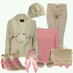 Beige / Pink