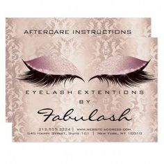 Lashes Extension Aftercare Instruction Damask Pink Card - luxury gifts unique special diy cyo #DiyEyeCream Exfoliating Gloves, Tanning Cream, Bentonite Clay, Younger Looking Skin, Eye Cream, Skin Treatments, Luxury Gifts, Natural Skin Care, Healthy Skin