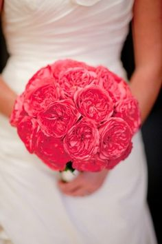 pink garden rose bouquet.  I like the shape and color.
