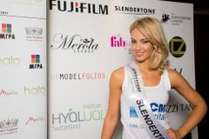 Our girl Phoebe at the finals of Miss London, doesn't she look fab! #MissLondon #Slendertone