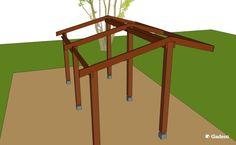 Kapschuur dak bouwen lariks douglas hout