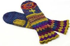 Image result for mitten knit embroidered