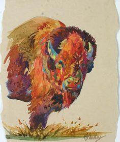Modern buffalo art... I love it!