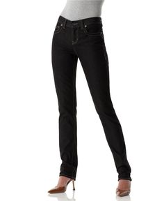 Calvin Klein Jeans, Skinny Stretch Jeans, Saturated Black Wash - Womens Jeans - Macy's