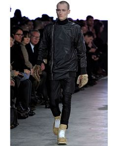 These gloves & shoes from Rick Owens at Paris Fashion Week 2013