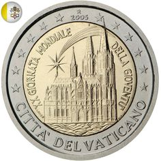 2 euro coin - World Youth Day, held in Cologne in August 2005 Jesus Painting, Painting Words, Timbre Collection, Piece Euro, World Youth Day, Money Notes, Euro Coins, Foreign Coins, Vatican City