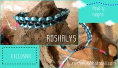 Las Manualidades de Roshalyss: Pulseras Colección azul