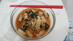 Korean Noodle or more known as Ramyeon with Korean rice cake!♡